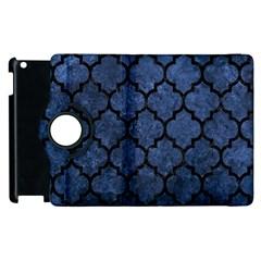 Tile1 Black Marble & Blue Stone (r) Apple Ipad 3/4 Flip 360 Case by trendistuff