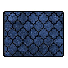 Tile1 Black Marble & Blue Stone (r) Double Sided Fleece Blanket (small) by trendistuff