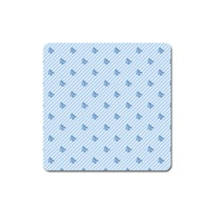Blue Butterfly Line Animals Fly Square Magnet by Alisyart
