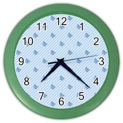 Blue Butterfly Line Animals Fly Color Wall Clocks by Alisyart