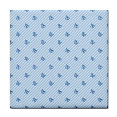 Blue Butterfly Line Animals Fly Face Towel by Alisyart