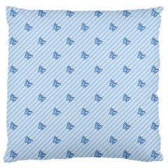 Blue Butterfly Line Animals Fly Large Cushion Case (one Side) by Alisyart