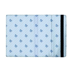 Blue Butterfly Line Animals Fly Apple Ipad Mini Flip Case by Alisyart