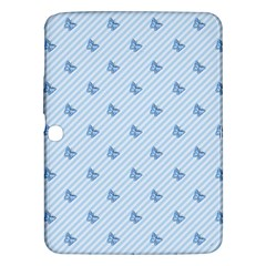 Blue Butterfly Line Animals Fly Samsung Galaxy Tab 3 (10 1 ) P5200 Hardshell Case  by Alisyart