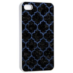 Tile1 Black Marble & Blue Stone Apple Iphone 4/4s Seamless Case (white) by trendistuff