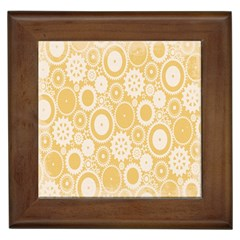 Wheels Star Gold Circle Yellow Framed Tiles by Alisyart