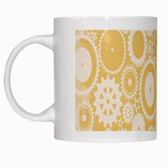 Wheels Star Gold Circle Yellow White Mugs by Alisyart