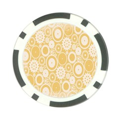 Wheels Star Gold Circle Yellow Poker Chip Card Guard (10 Pack) by Alisyart