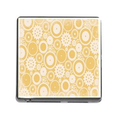 Wheels Star Gold Circle Yellow Memory Card Reader (Square)