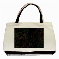 Boxs Black Background Pattern Basic Tote Bag by Simbadda