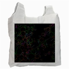 Boxs Black Background Pattern Recycle Bag (one Side) by Simbadda