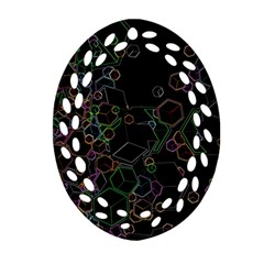 Boxs Black Background Pattern Ornament (oval Filigree) by Simbadda