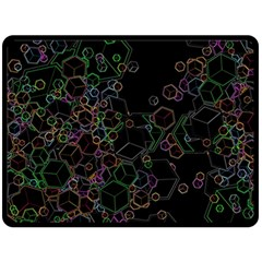 Boxs Black Background Pattern Double Sided Fleece Blanket (Large)