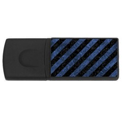 Stripes3 Black Marble & Blue Stone Usb Flash Drive Rectangular (4 Gb)