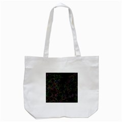Boxs Black Background Pattern Tote Bag (white) by Simbadda