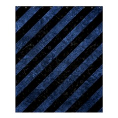 Stripes3 Black Marble & Blue Stone Shower Curtain 60  X 72  (medium)