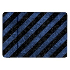 Stripes3 Black Marble & Blue Stone Samsung Galaxy Tab 8 9  P7300 Flip Case by trendistuff