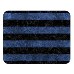 Stripes2 Black Marble & Blue Stone Double Sided Flano Blanket (large) by trendistuff