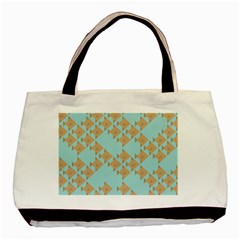 Fish Animals Brown Blue Line Sea Beach Basic Tote Bag (two Sides) by Alisyart