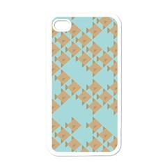 Fish Animals Brown Blue Line Sea Beach Apple Iphone 4 Case (white) by Alisyart