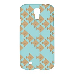 Fish Animals Brown Blue Line Sea Beach Samsung Galaxy S4 I9500/i9505 Hardshell Case by Alisyart