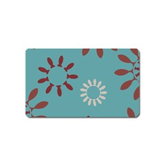 Fish Animals Star Brown Blue White Magnet (name Card) by Alisyart