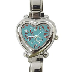 Fish Animals Star Brown Blue White Heart Italian Charm Watch by Alisyart