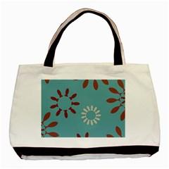 Fish Animals Star Brown Blue White Basic Tote Bag by Alisyart