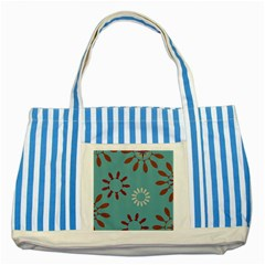 Fish Animals Star Brown Blue White Striped Blue Tote Bag by Alisyart