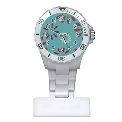 Fish Animals Star Brown Blue White Plastic Nurses Watch by Alisyart