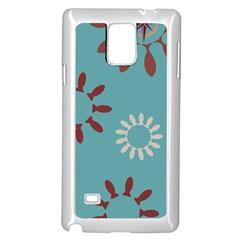 Fish Animals Star Brown Blue White Samsung Galaxy Note 4 Case (white) by Alisyart