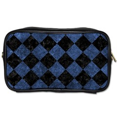 Square2 Black Marble & Blue Stone Toiletries Bag (two Sides) by trendistuff