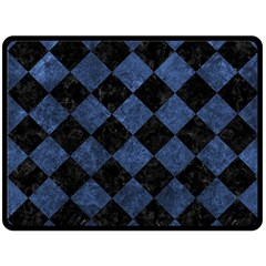 Square2 Black Marble & Blue Stone Fleece Blanket (large) by trendistuff
