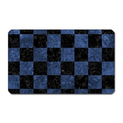 Square1 Black Marble & Blue Stone Magnet (rectangular) by trendistuff