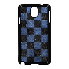 Square1 Black Marble & Blue Stone Samsung Galaxy Note 3 Neo Hardshell Case (black) by trendistuff