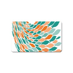 Fish Color Rainbow Orange Blue Animals Sea Beach Magnet (name Card) by Alisyart