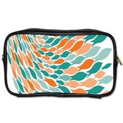 Fish Color Rainbow Orange Blue Animals Sea Beach Toiletries Bags 2 Side by Alisyart