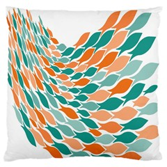 Fish Color Rainbow Orange Blue Animals Sea Beach Large Flano Cushion Case (two Sides) by Alisyart