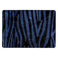 Skin4 Black Marble & Blue Stone (r) Samsung Galaxy Tab 10 1  P7500 Flip Case by trendistuff