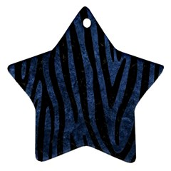 Skin4 Black Marble & Blue Stone Star Ornament (two Sides) by trendistuff