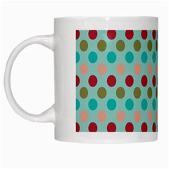 Large Circle Rainbow Dots Color Red Blue Pink White Mugs by Alisyart