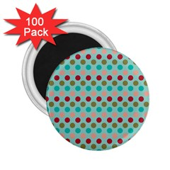 Large Circle Rainbow Dots Color Red Blue Pink 2 25  Magnets (100 Pack)  by Alisyart