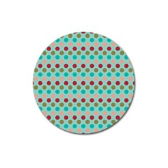 Large Circle Rainbow Dots Color Red Blue Pink Magnet 3  (Round) by Alisyart
