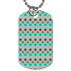 Large Circle Rainbow Dots Color Red Blue Pink Dog Tag (one Side) by Alisyart