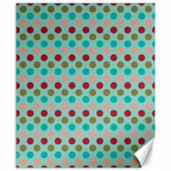 Large Circle Rainbow Dots Color Red Blue Pink Canvas 8  X 10  by Alisyart