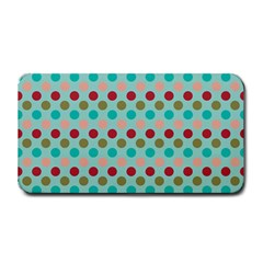 Large Circle Rainbow Dots Color Red Blue Pink Medium Bar Mats by Alisyart
