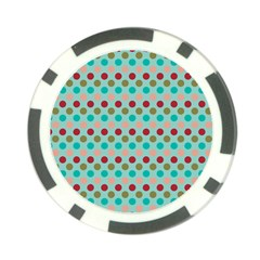 Large Circle Rainbow Dots Color Red Blue Pink Poker Chip Card Guard (10 Pack) by Alisyart