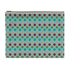 Large Circle Rainbow Dots Color Red Blue Pink Cosmetic Bag (xl) by Alisyart