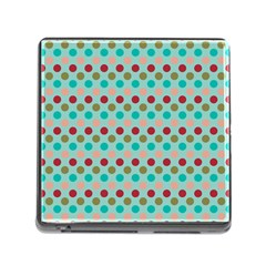 Large Circle Rainbow Dots Color Red Blue Pink Memory Card Reader (square) by Alisyart