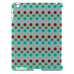 Large Circle Rainbow Dots Color Red Blue Pink Apple Ipad 3/4 Hardshell Case (compatible With Smart Cover) by Alisyart